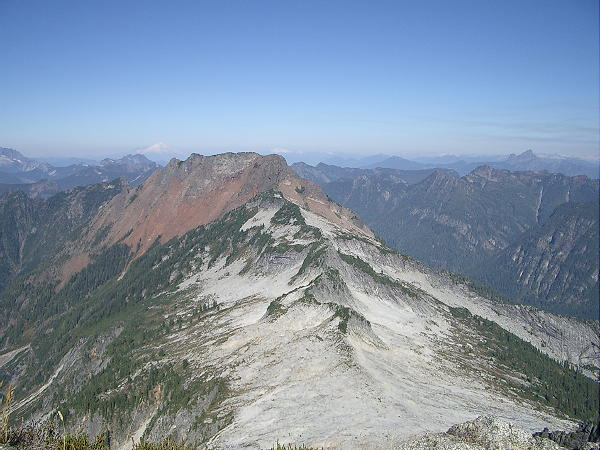 From the summit of Vesper Peak, looking at the northeast flank of Big Four Mountain.